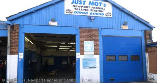 The front of Just MOTs of Newport Pagnell, Milton Keynes
