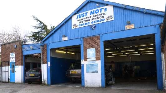 A photo of the front of the MOT test station at Just MOTs of Milton Keynes