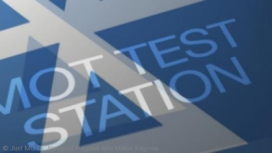 A close up photo of the MOT test symbol at Just MOTs of Milton Keynes